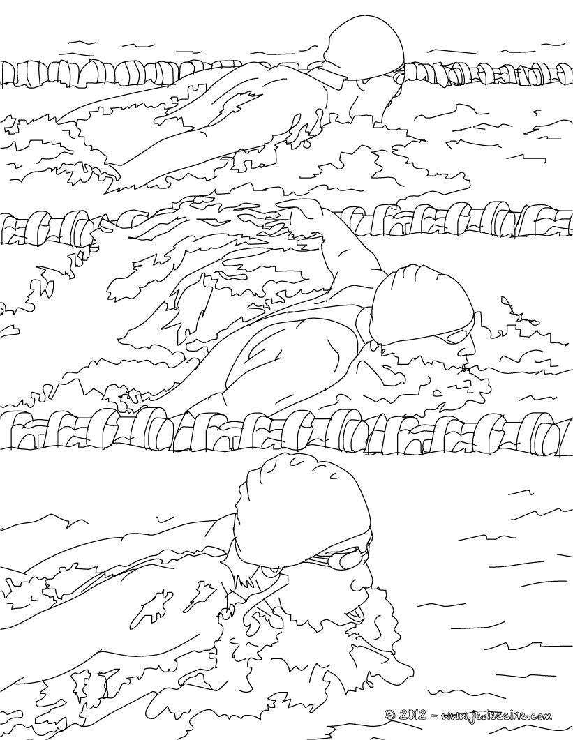 Zwemmen Kleurplaat Thema Sport Sports Coloring Pages Swimming