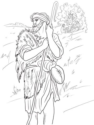 The Prophet Amos Coloring Page Free Printable Coloring Pages Coloring Pages Bible Coloring Pages Bible Coloring Sheets
