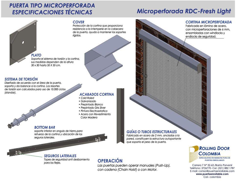 Puerta Enrollable Microperforada - Rolling Door Colombia ...