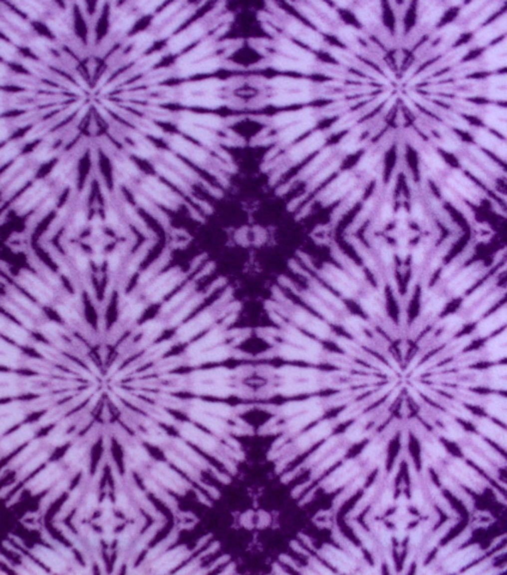 Antipill fleece fabricroyal purple circle tiedye products