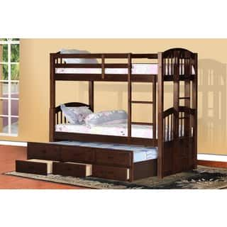 Cameron Twin Over Twin Bunk Bed With Trundle And Drawers Bedroom