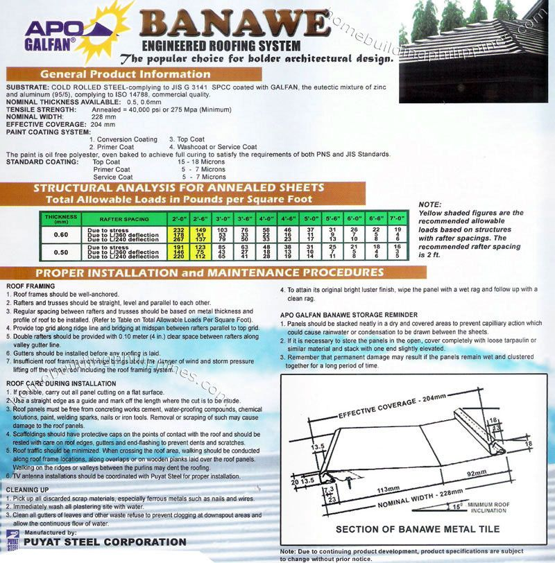 Apo Galfan Banawe Engineered Roofing System Roofing Roofing Systems Sheet Metal Roofing