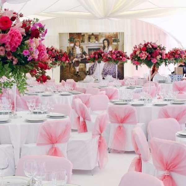 Decoração De Casamento Rosa Wedding Reception Tableswedding Table Decorationswedding Themespink Themepink Ideaswhite