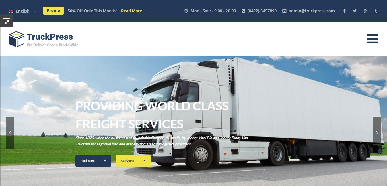 Freight Quote Stunning Truckpress  Transportation Business WordPress Theme  WordPress . Decorating Inspiration