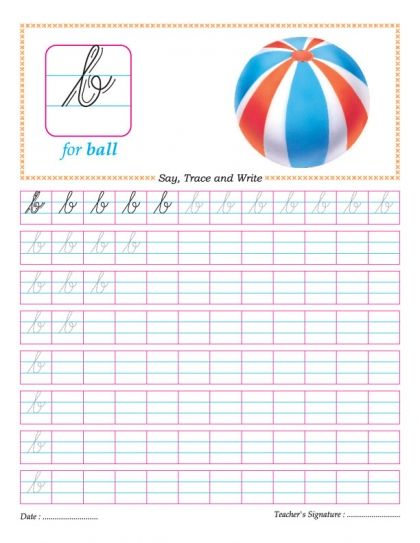 Cursive small letter b practice worksheet Good ideas Pinterest - copy www.letter writing format