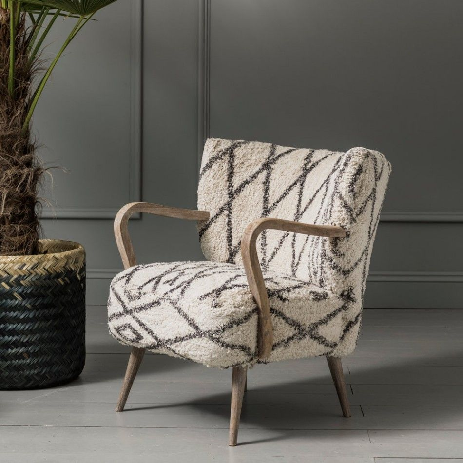 Mina Printed Armchair Armchair, Printed accent chairs