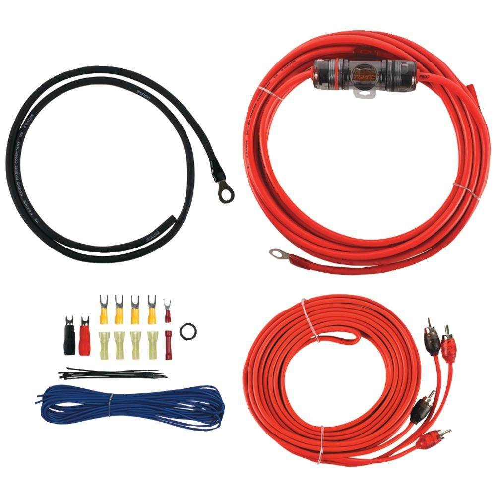 T-spec V6 Series Amp Installation Kit With Rca Cables (8