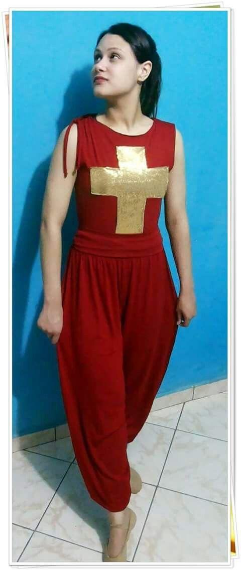 6b85832fa Roupas coreografia gospel Vestido De Dança Gospel