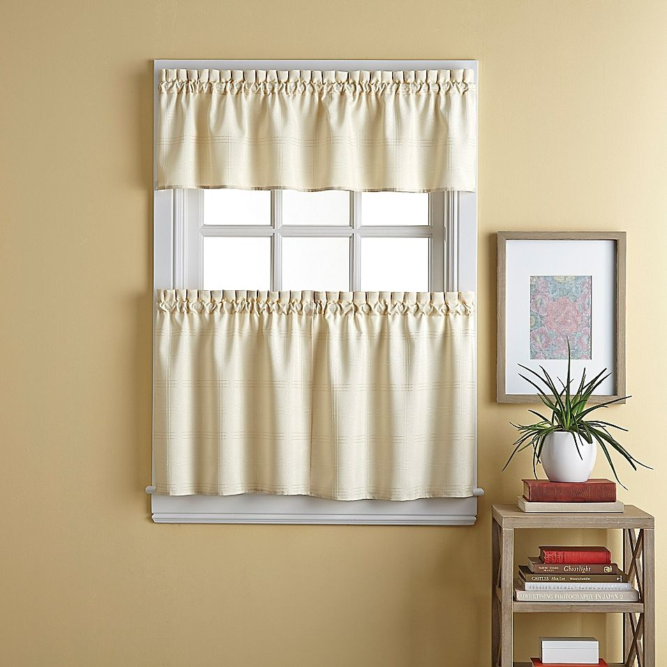 Wesley 24 Window Curtain Tier Pair In Natural Curtains