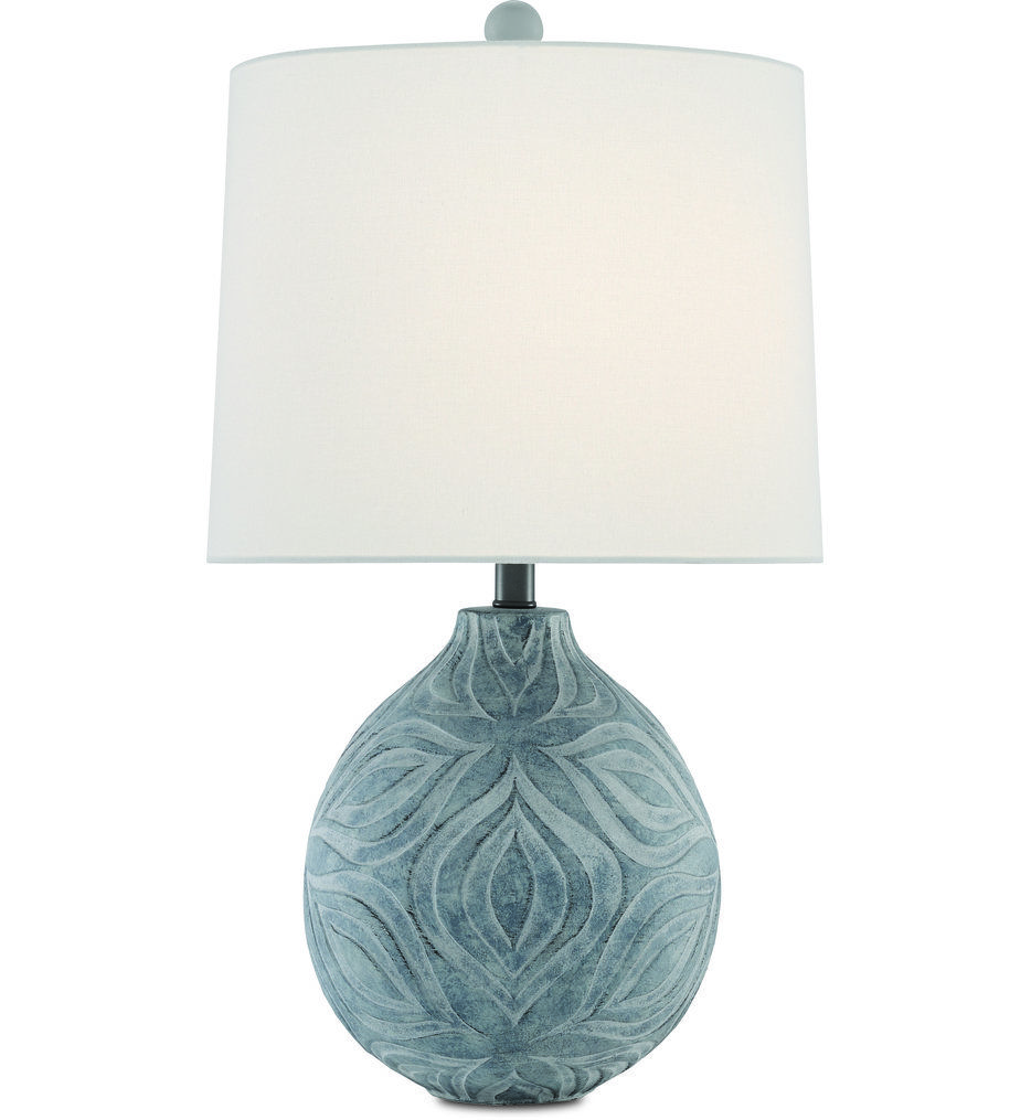 Currey & Company - 6000-0380 Hadi Gray Stone Wash Table Lamp