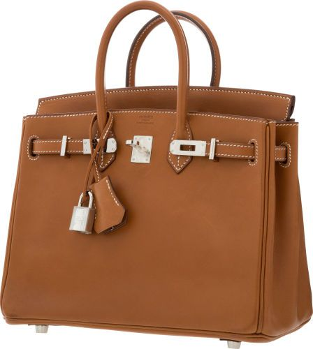Hermes 25cm Natural Barenia Leather Birkin Bag with Palladium Hardware 843deb0439cc4