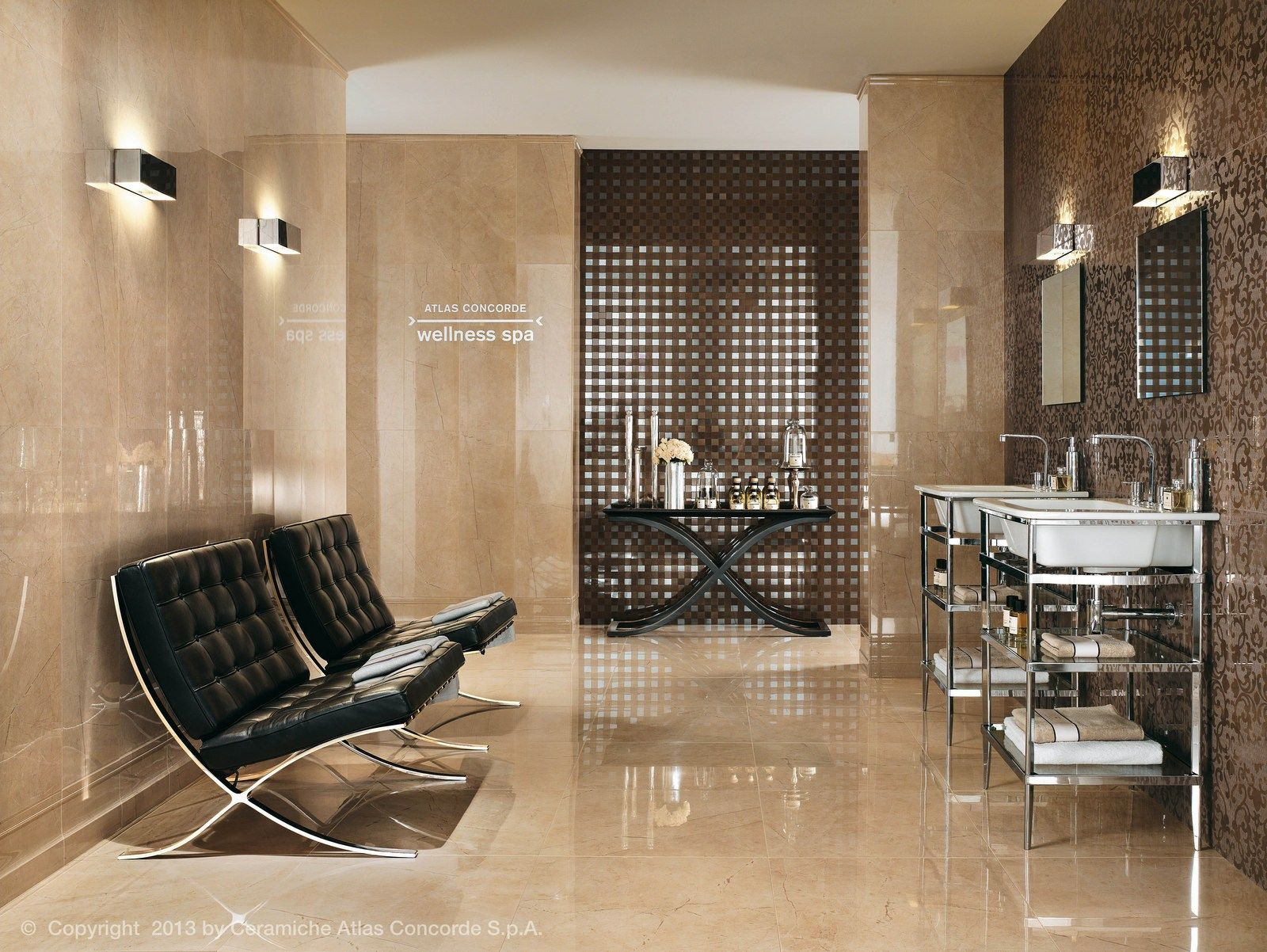 Marvel wall design mosaic by atlas concorde marble for Atlas salle de bain