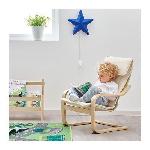 Ikea Poang Draaifauteuil.Poang Fauteuil Enfant Plaque Bouleau Almas Naturel Fauteuil