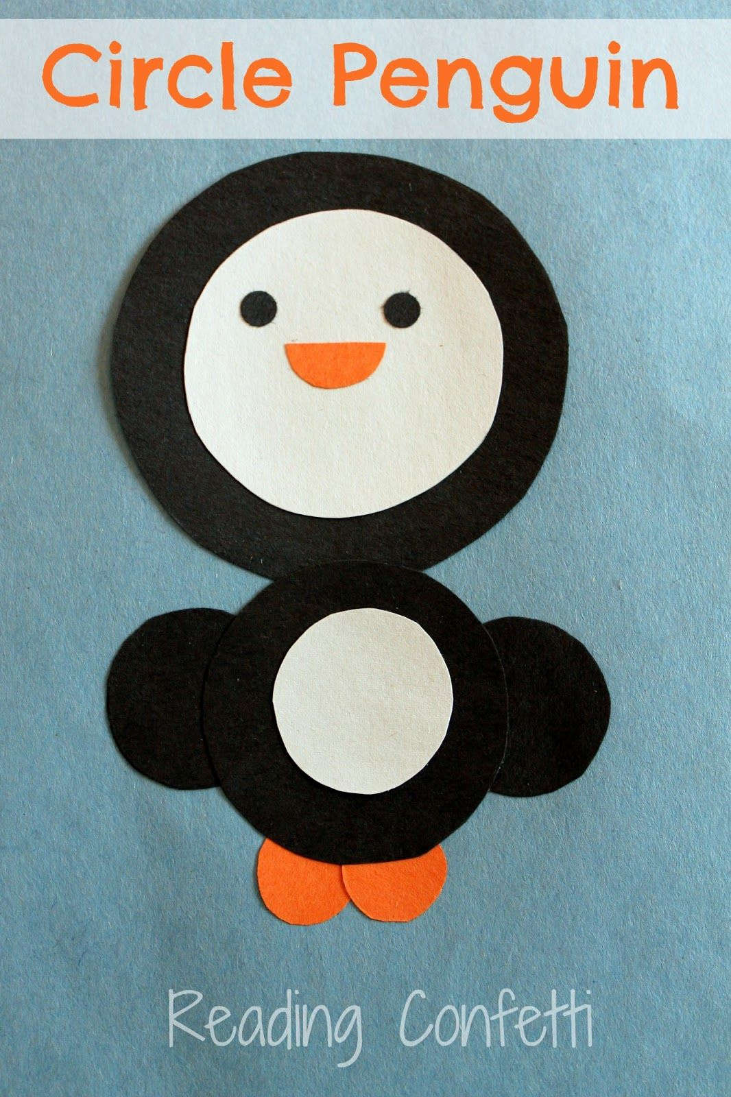 Super cute circle penguin craft - I think this one is great for our shape theme next week in my preschool class #penguincraft