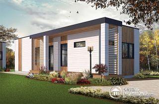 Ariel Micro maison moderne de 631 pi. carré,plafond 9\', 2 à 3 ...