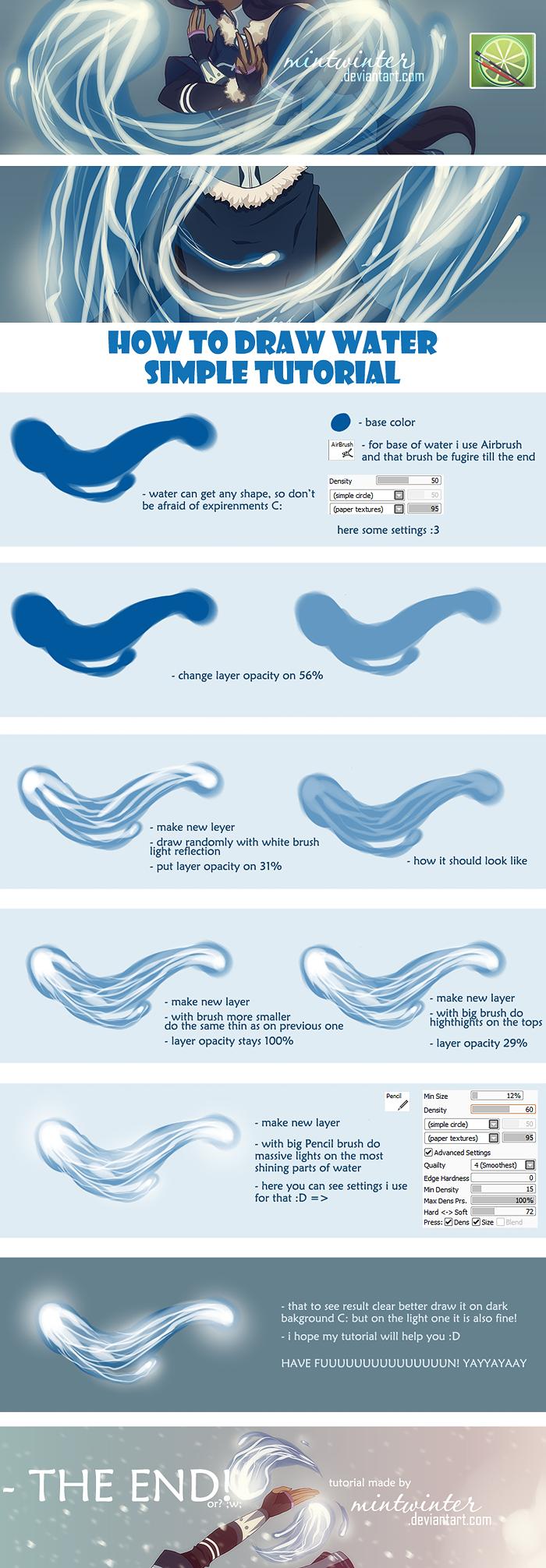 как рисовать море в сай