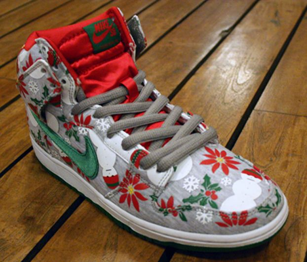 Crafts · Nike SB Dunk High UGLY CHRISTMAS SWEATER ...