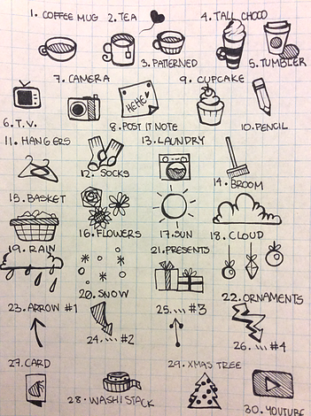 doodles for bullet journals | planners