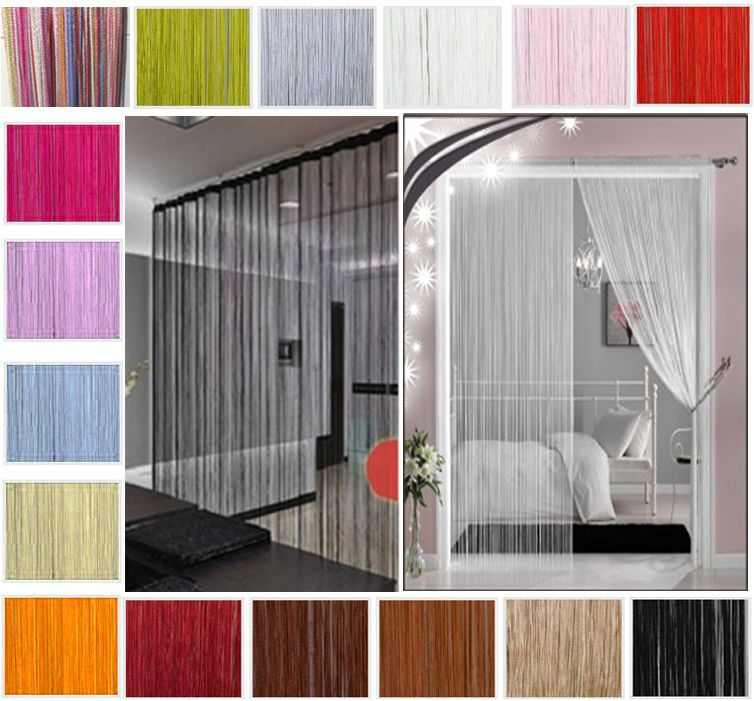 String Curtains Patio Net Fringe For Door Fly Screen Windows Divider
