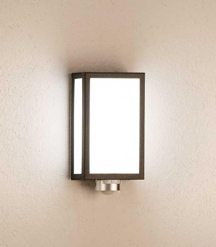 Rechteckige LED Außenleuchte mit Bewegungsmelder, grafitgrau #dekoeingangsbereichaussen