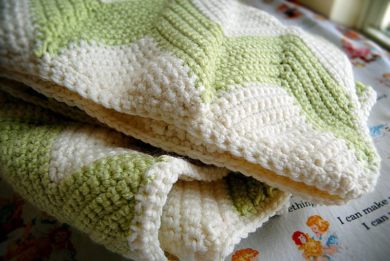 Chevron Baby Blanket With A Straight Edge Eat Knit Diy Things
