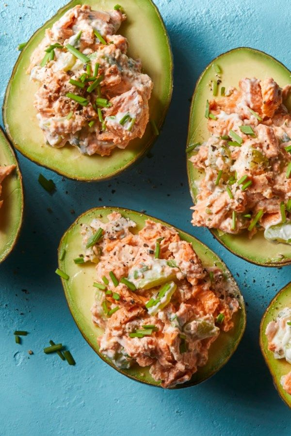 Salmon-Stuffed Avocados images