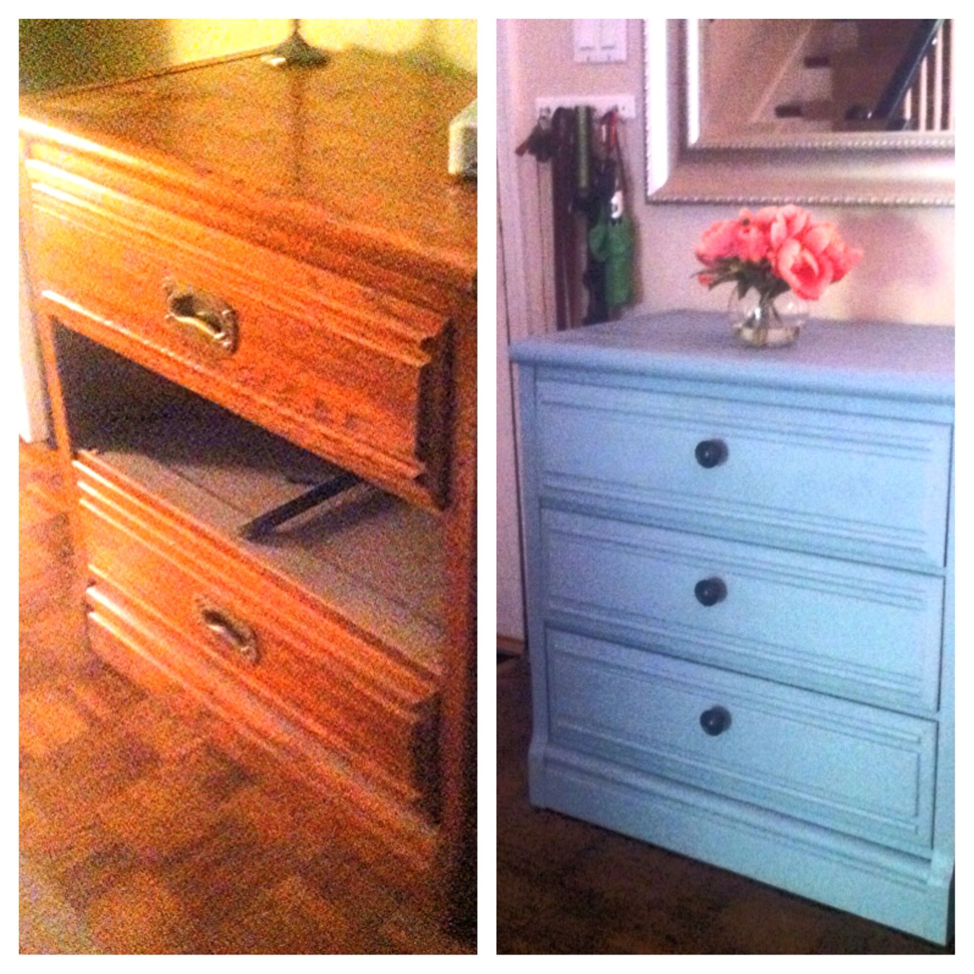 Diy Garage Sale Dresser Refinish  New Knobs & Valspar