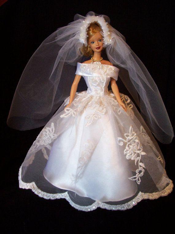 barbie wedding gowns Lace - Etsy..1...3 qw   Barbie/Doll Bridal ...