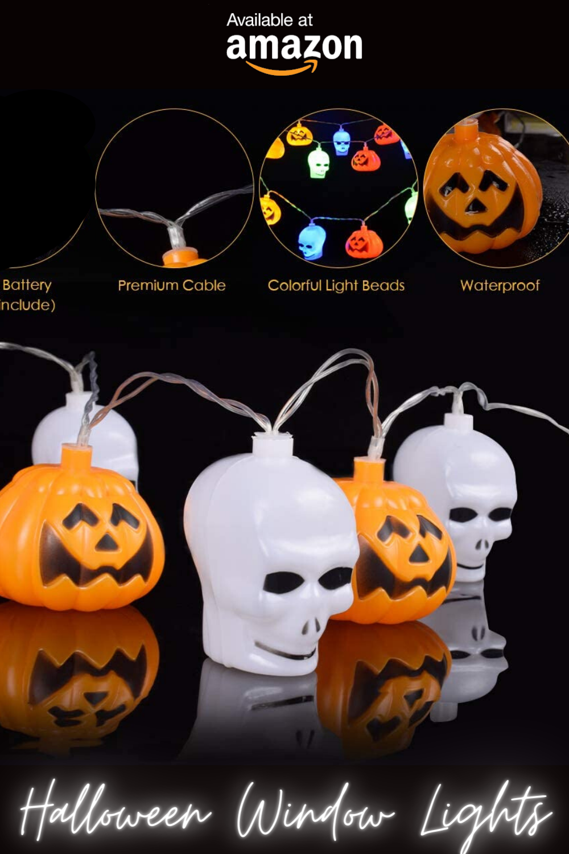 Halloween Indoor Lights Decoration Idea, Spooky Pumpkin Skull Lights For Bedroom, Table & Livingroom