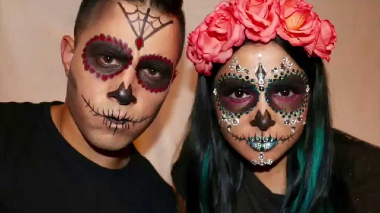 The Best Day Of The Dead Makeup Male Half Face And Pics In 2020 Halloween Makeup Sugar Skull Sugar Skull Makeup Dead Makeup
