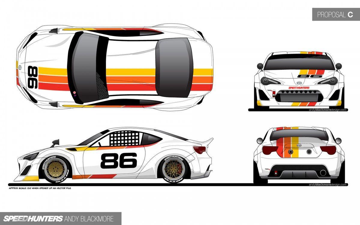 GT86 TRD Livery | BRZ FRS GT86 | Design, Car wrap, Toyota 86