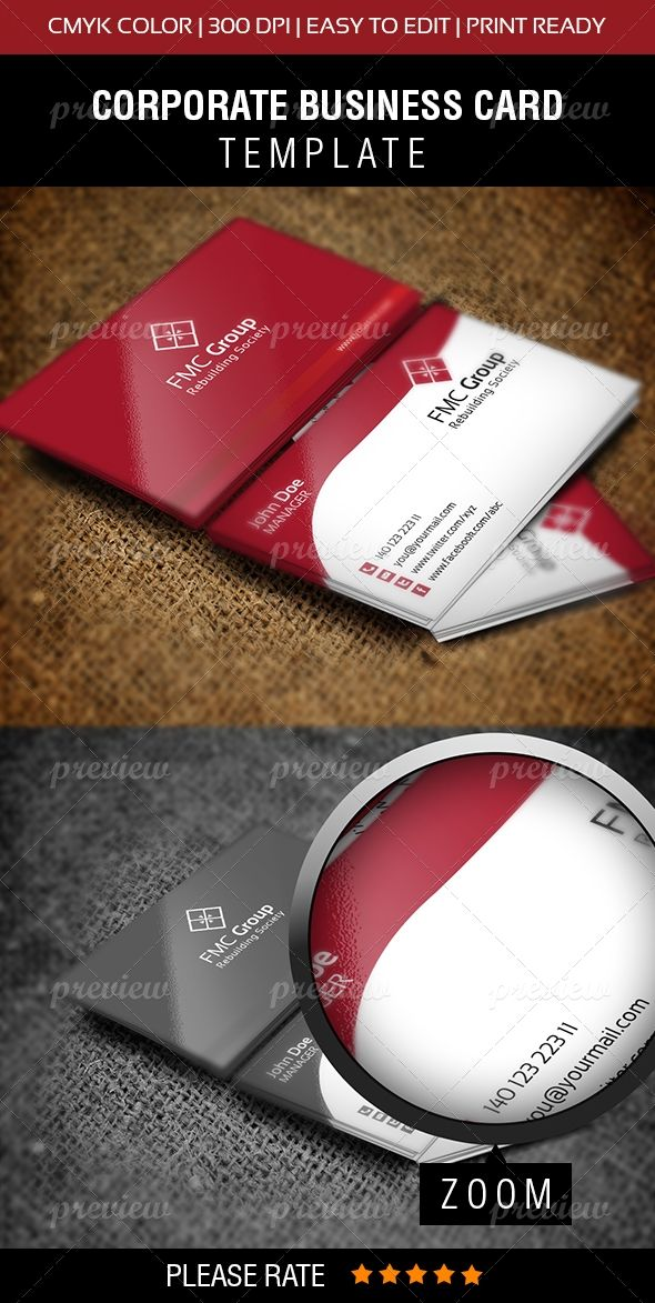 FMC Group Business Card | Print | Business cards, Cards, Business