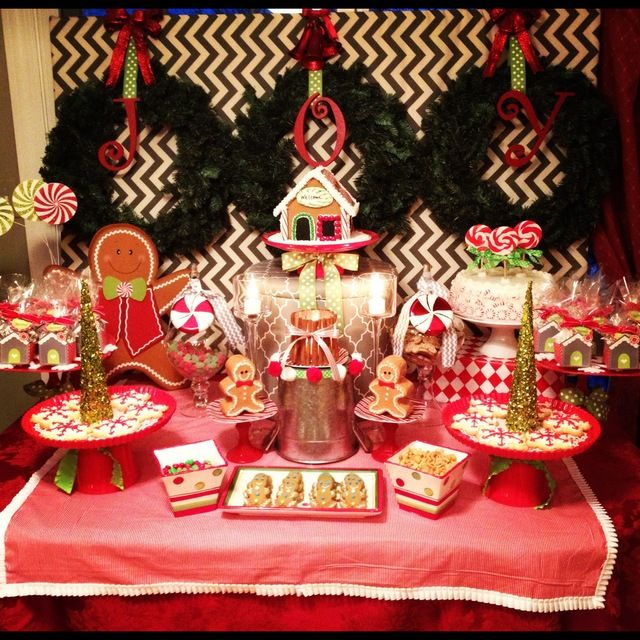 Gingerbread Christmas Holiday Party Ideas Photo 4 Of 20 Family Christmas Party Christmas Party Themes Christmas