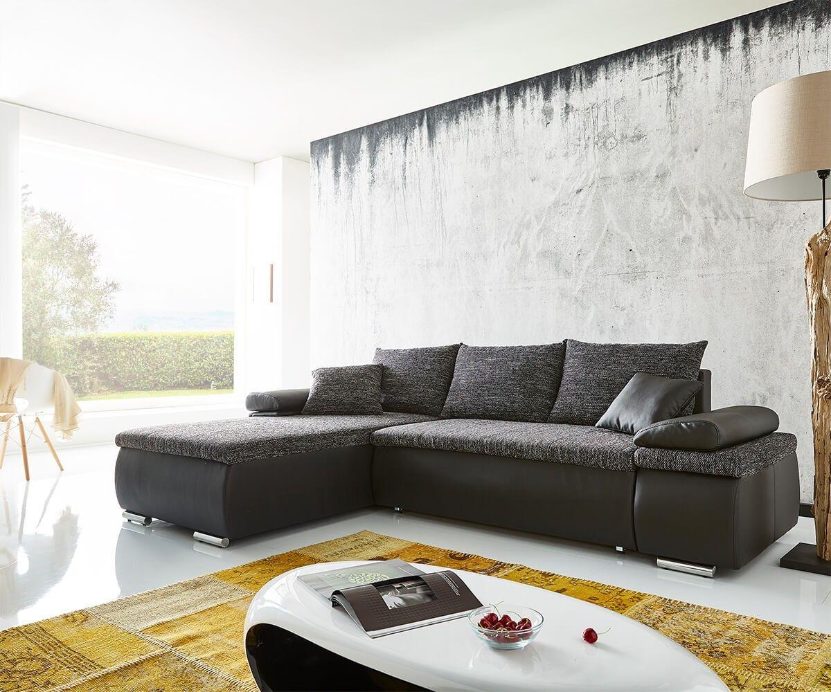 ecksofa cariba 275x180 schwarz grau ottomane variabel schlaffunktion m bel sofas. Black Bedroom Furniture Sets. Home Design Ideas