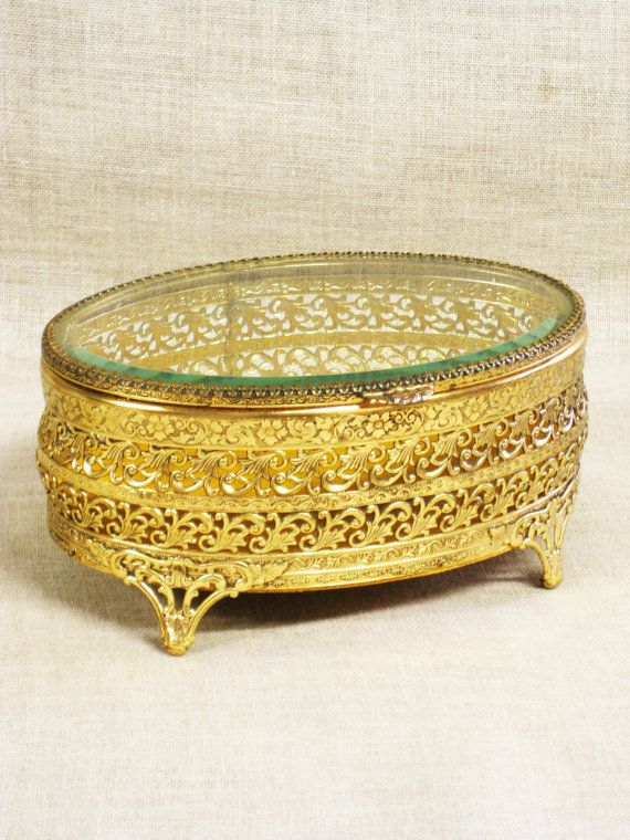 Ormolu Jewelry Casket Jewelry Box Display Box Metal Display