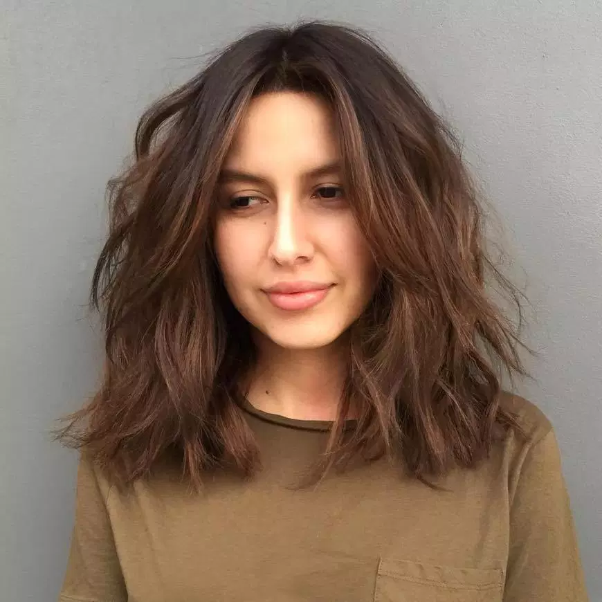 Best Haircuts For Thick Frizzy Wavy Hair Styles And Haircut Thick Hair Styles Medium Hair Styles Medium Length Hair Styles