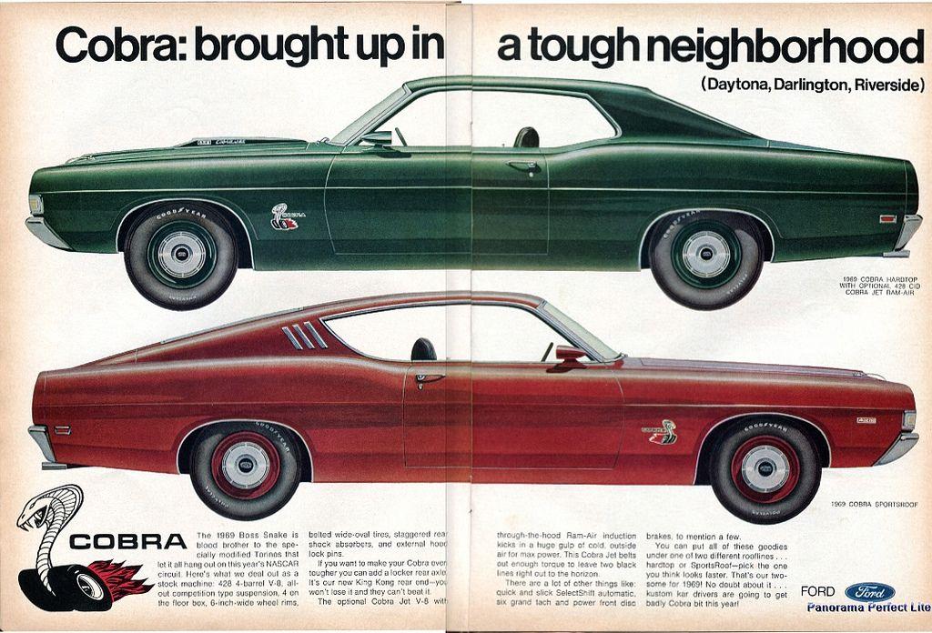45++ 1969 torino cobra high quality