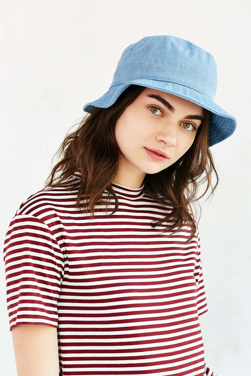5d9b83b3 Denim Bucket Hat   style   Hats, Bucket hat outfit, Bucket hat