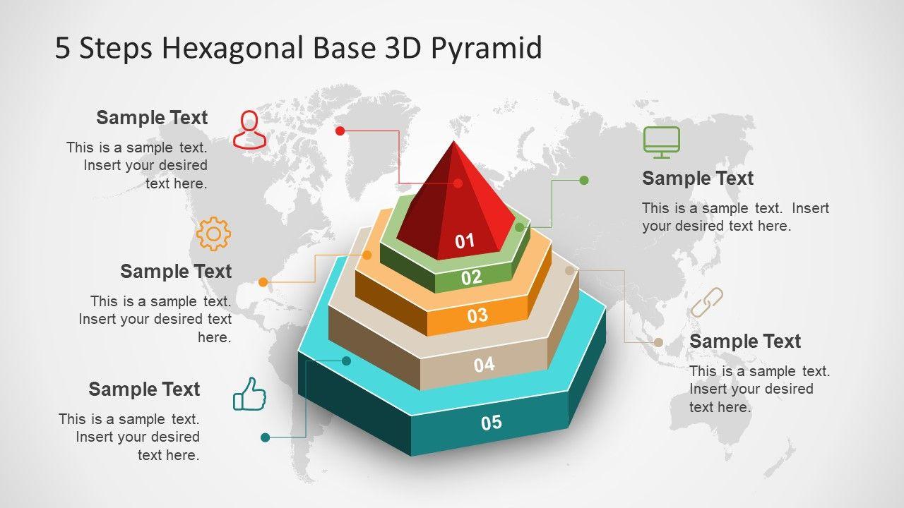 powerpoint diagram of hexagonal shape [ 1280 x 720 Pixel ]