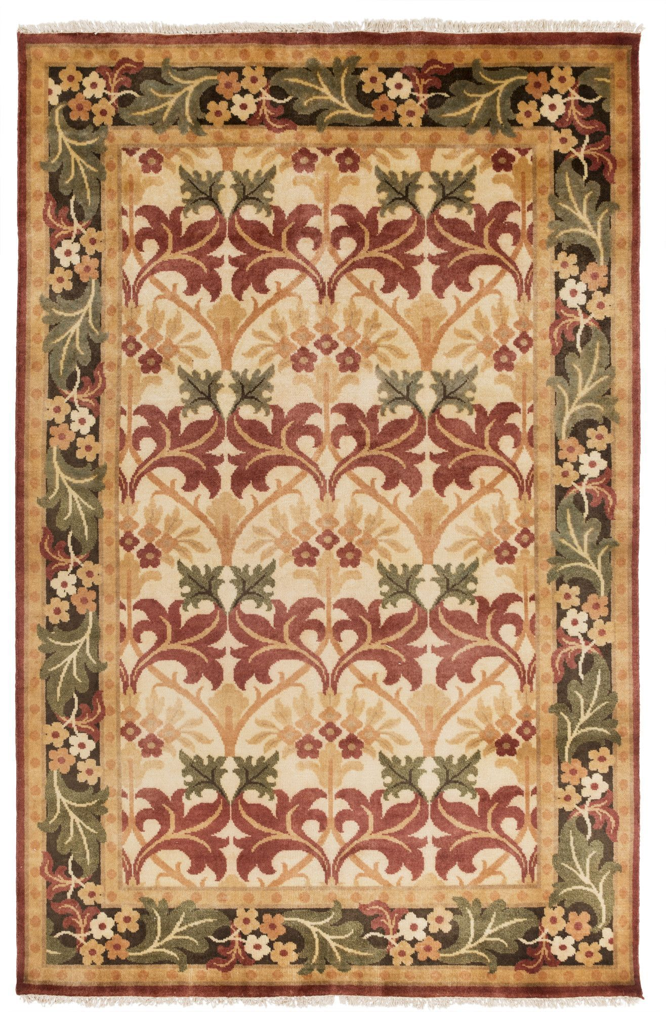 Pritchard Hand Knotted Wool Beige Area Rug Beige Area Rugs Rugs