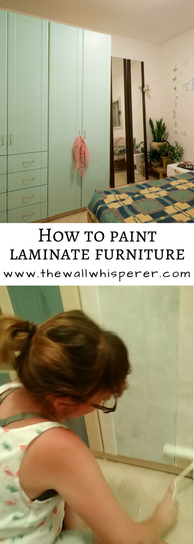 Paint over laminate furniture - closet makeover - on a ...