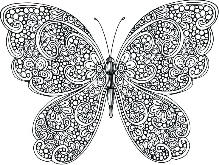 Butterfly Coloring Pages For Adults Coloring Mandalas In 2020