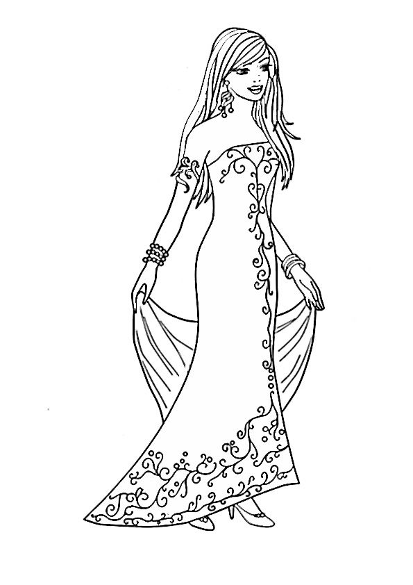 Barbie Ausmalbilder 49 Barbie Coloring Colorful Drawings Barbie Coloring Pages