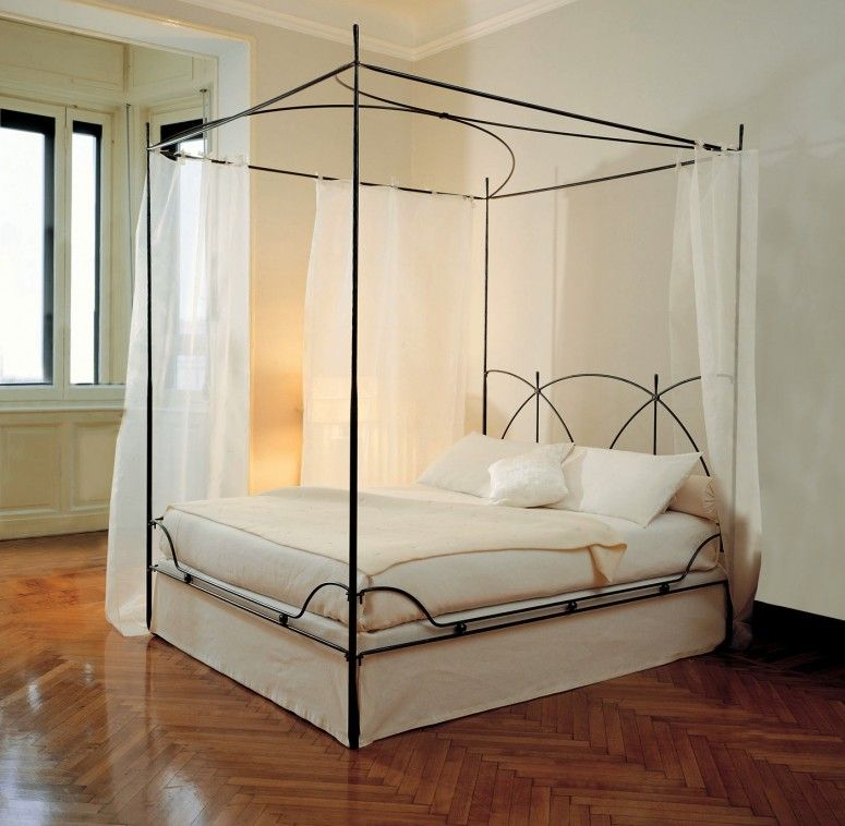 letto matrimoniale a baldacchino in ferro battuto | Furniture | Bed ...
