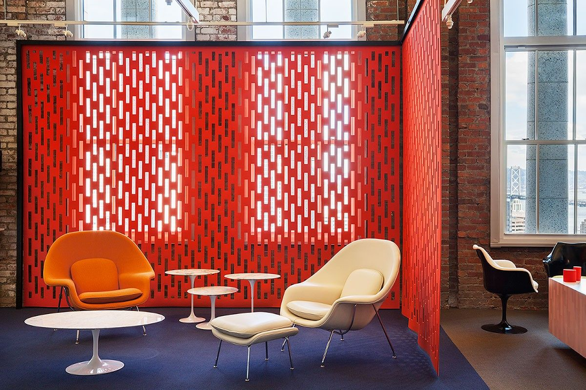 Custom Hanging Panels At Knoll San Francisco Showroom