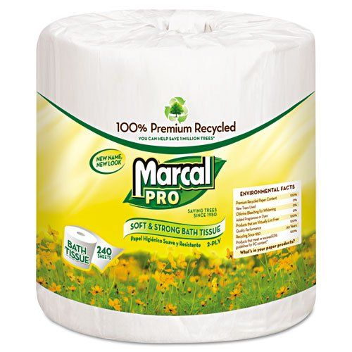 Mrc3001 Marcal Pro Two Ply Bath Tissue Pack Bath Tissue Bathroom Recycling Bathroom Tissue