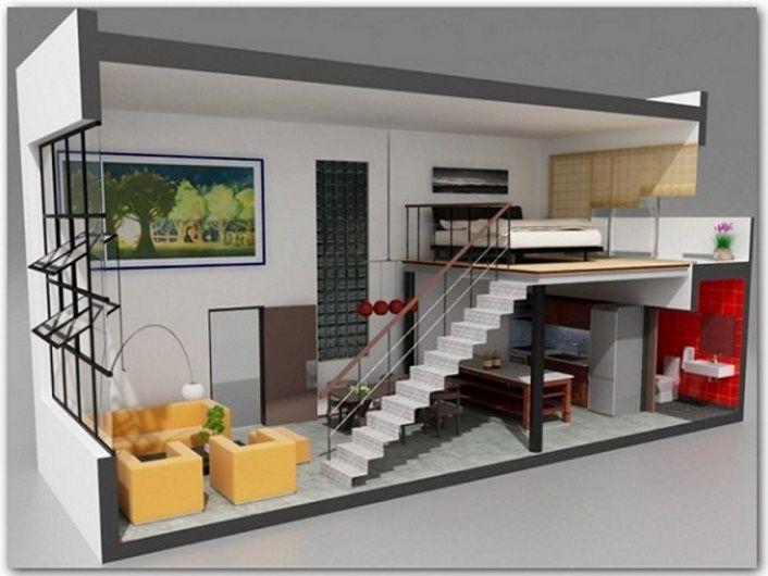 Planos departamentos modernos pinteres for Apartamentos disenos modernos
