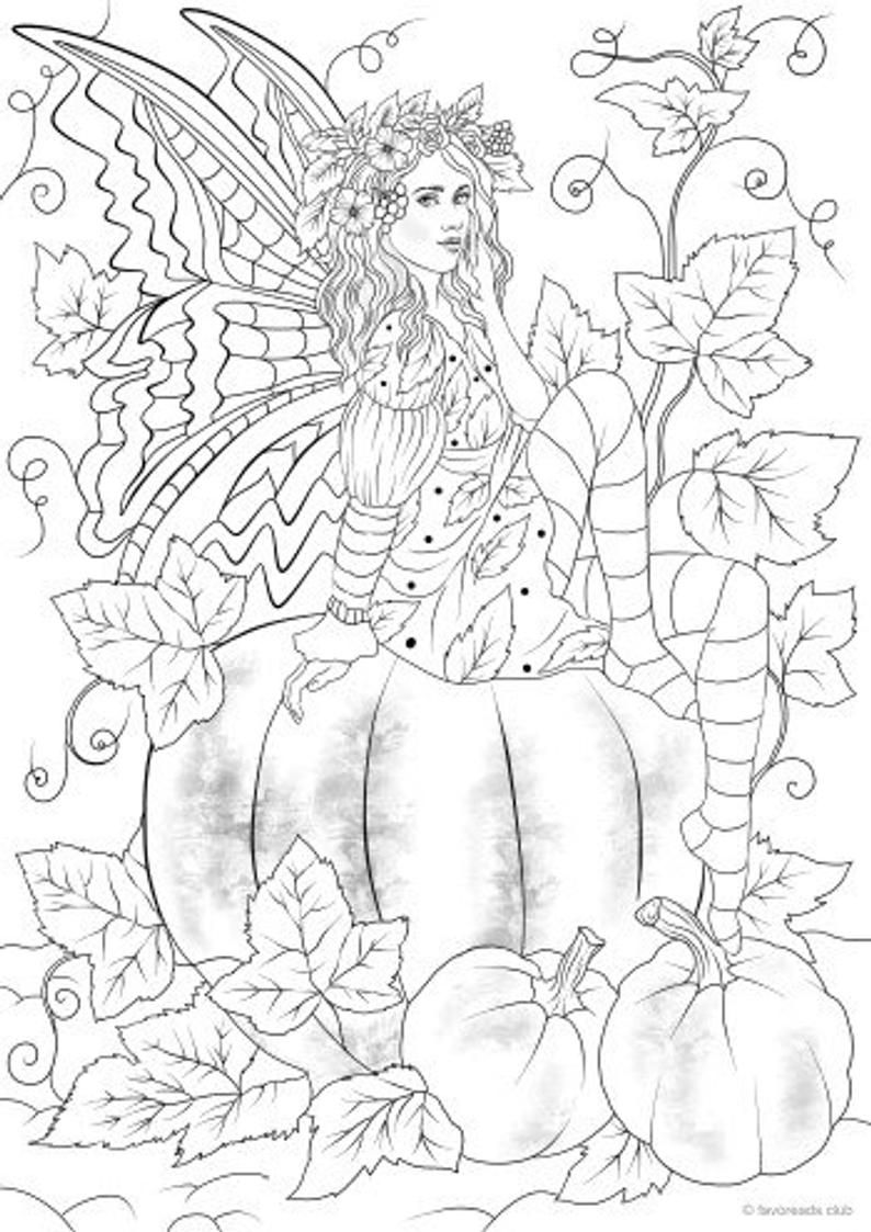 Autumn Fantasy Coloring Book - Halloween Witches, Vampires and ... | 1123x794