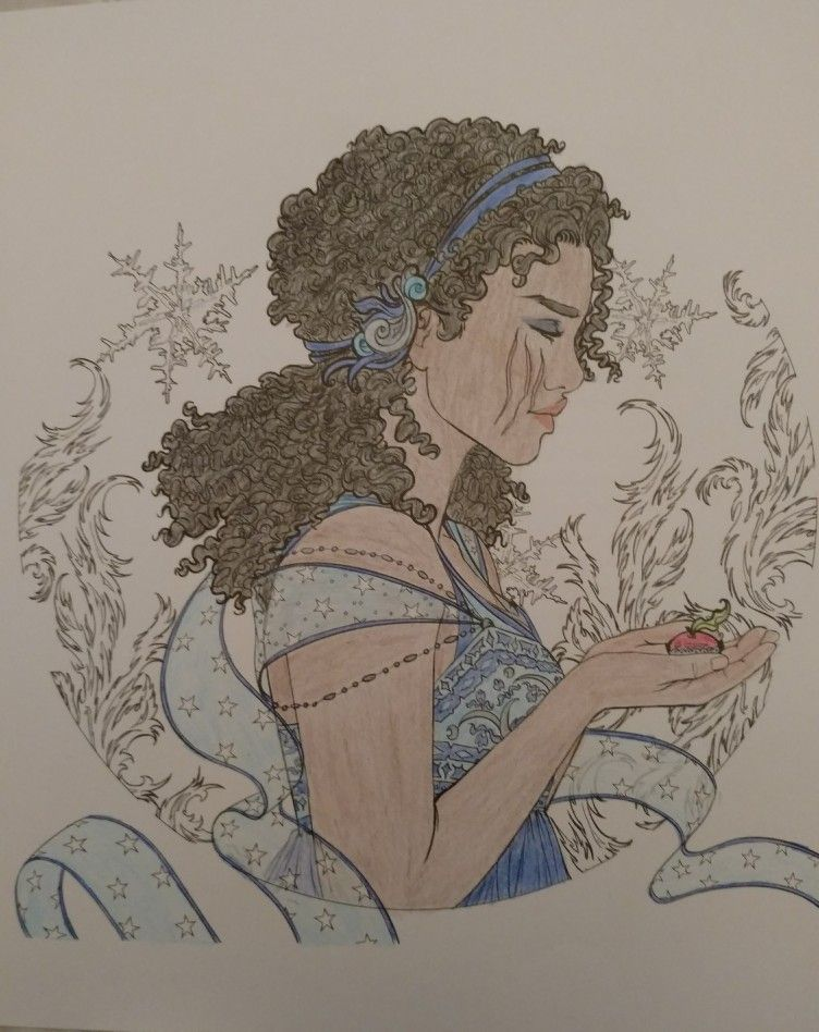 Winter This Is From The Lunar Chronicles Coloring Book But This