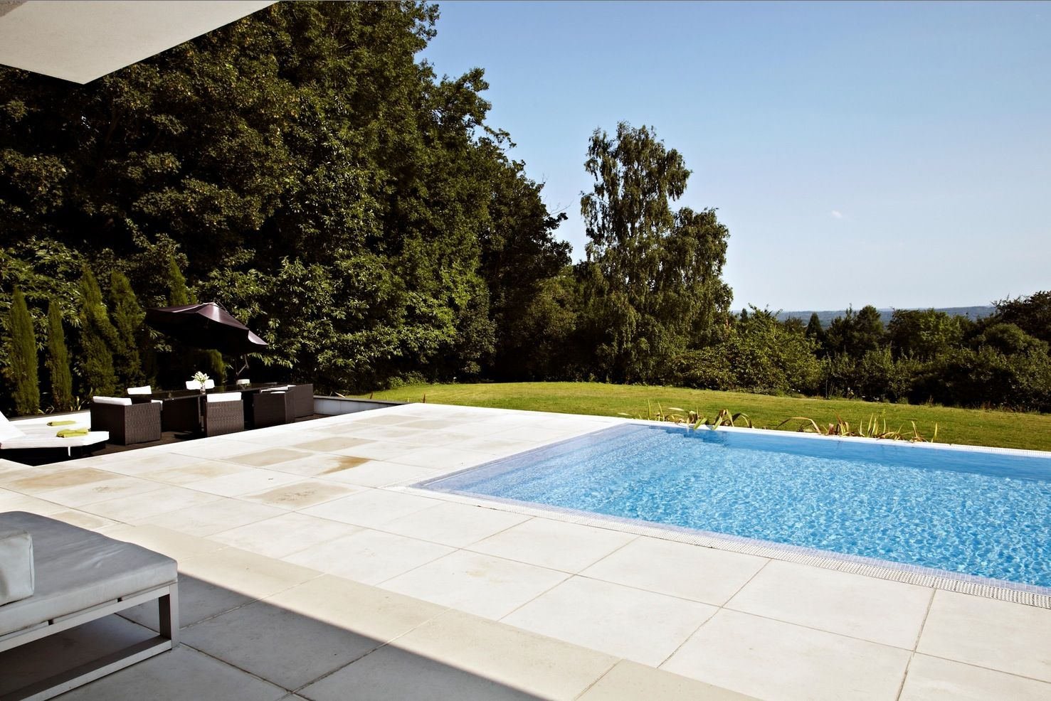 Superior Backyard Infinity Pool And Patio To Overlook My Horse Field